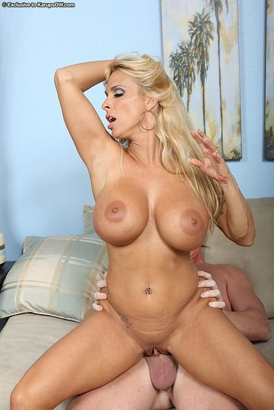 Broad-minded blonde with juicy big tits Holly Halston gets sweet sperm