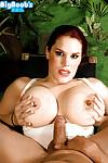 Busty redhead MILF Jolie Rain tit fucking large cock for cum on boobs