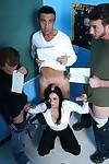 MILF teacher Veronica Rayne has three huge cocks for herself