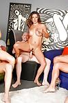 Horny moms Danica Dillon and Nadia Styles ride cock in couple swap sex