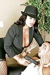 MILF Lisa Ann in stockings feels a deep penetration with a stiff cock