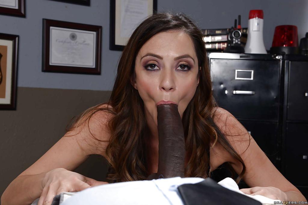 Brunette black cock oral sex pics