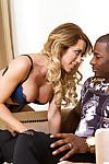 Interracial banging with a horny Capri Cavanni and her black friend