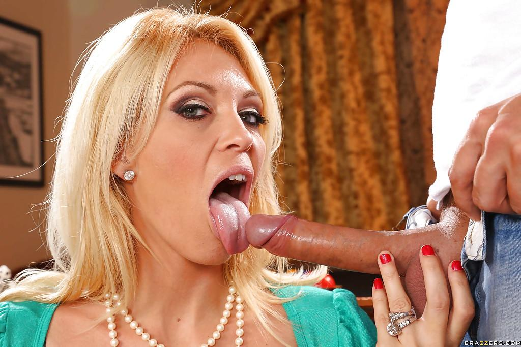 Charlee Chase Sucks A Dick And Gets Jizzed On Her Face 1