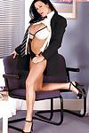 Luscious chubby MILF secretary Linsey Dawn McKenzie gets out of suit.