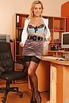 Seductive MILF Tanya Tate posing as a lustful office secretary