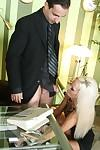 MILF secretary Lichelle Marie is striping to fuck in her tight cunt