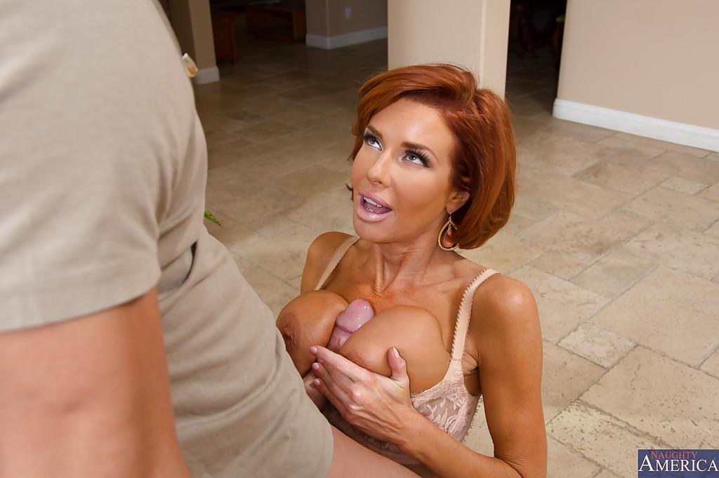 Hot redhead seduces guy Paige rode