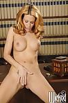 Sweet MILF Jessica Drake posing and masturbating her shaved cunt