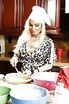 Big titted MILF Diamond Foxxx sucks at cooking but rocks at fucking