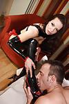 Amazing Amica Bentley humiliates her submissive slave on cam