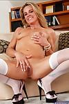 Horny blonde MILF babe Amanda Blow is a slutty teacher.