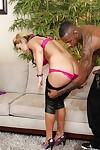 Nikki Sexx blows and fucks a black prick for a cumshot in her mouth