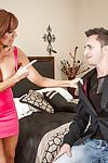 Cougar Latina Tara Holiday bangs with a young man just for sperm