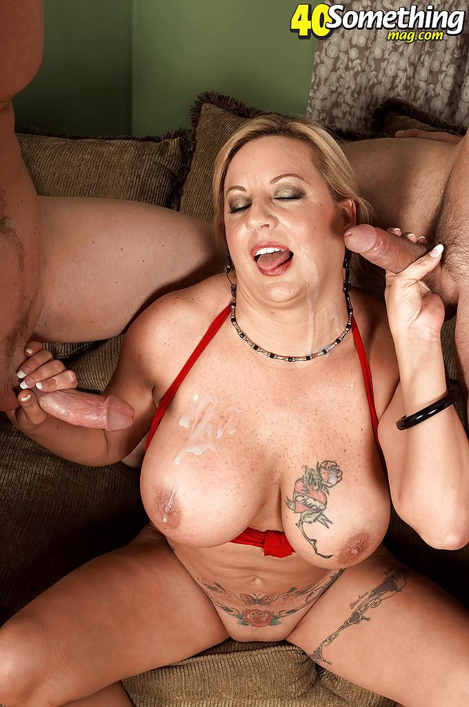 Cum drenched huge tits