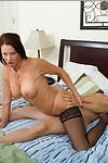 Hot mature brunette in nylon stockings Vanessa Videl gets fucked hardcore