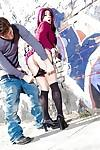 Slutty milf Joanna Angel with hot tattoos gets banged on the street