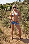 Winsome milf Samantha kicks off fantastic outdoor masturbation