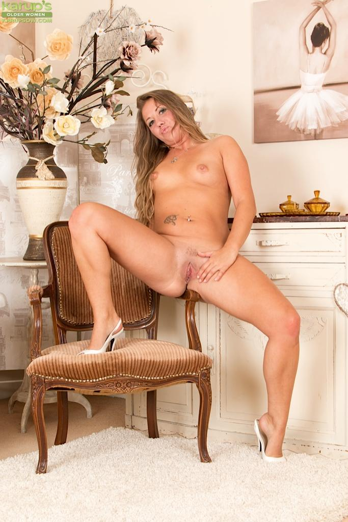 Christina blonde cougar strip any case