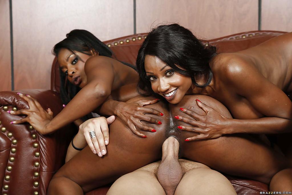 Ebony lovers threesome