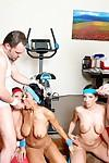 MILF Ricki White, Kelly Divine and Claire Dames into sport and fucking