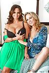 Older moms Ava Addams and Julia Ann displaying taste for lesbian pussy