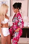 Horny lesbian milf Angelina is pleasing her Asian lover Asa Akira