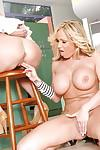 Big titted lesbian MILF Tanya Tate fingered and strap-on fucked