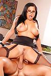 Office Latina milf with big tits Sophia Lomeli gives reality blowjob