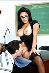 Sexy MILF teacher in glasses Sophia Lomeli gets drilled on her desk