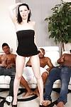 Hardcore interracial gangbang with dick-sucking brunette Maya B