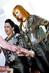 Tarra White, Stacy Silver & Kety Pearl having lesbian fun with a strapon