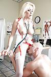 Busty MILF in nurse uniform Eden Adams sucks and fucks a thick cock