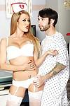 Lewd nurse Capri Cavanni gives urgent treatment to her hung patient