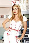 Wooing nurse in stockings Capri Cavanni revealing her gorgeous curves
