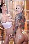 Ravishing MILFs Jessica Jaymes & Janine James have some wet lesbian fun