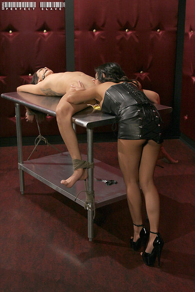 Table tied daisy marie screams as she is whipped by kina kai