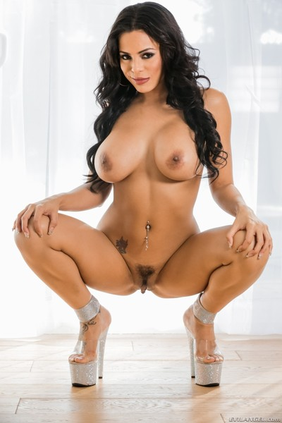 Luna star strips and poses