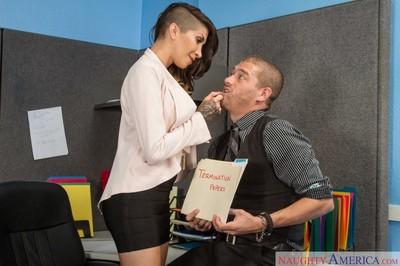 Bigtit secretary jazzes lucky boss