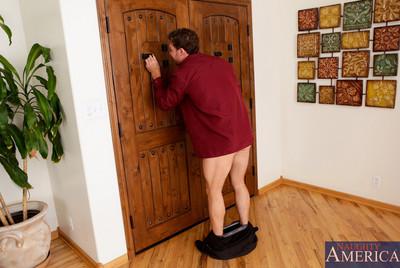 Rachel roxxx swallows her neighbors schlong