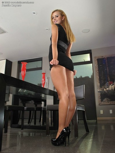 Jessie rogers and her hostile ass and twat crack
