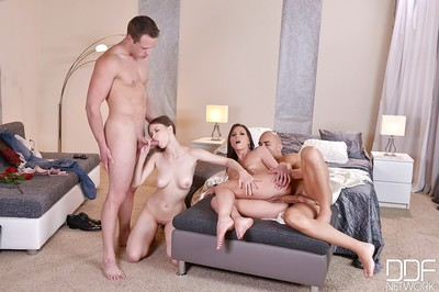 Wild european girlfriends alysa and beata undine fuck with their males