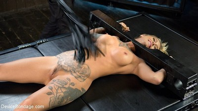 Kleio valentien fairy with red ballgag is toyed to peak of pleasure by th