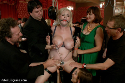 Fairy gets fucked by black dicks in gathering full of covered guests