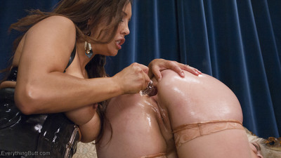 Francesca le punishes miranda miller and big ass alice frost. miranda attains a s