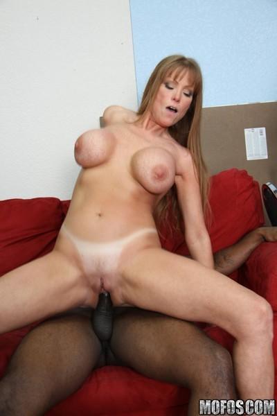 Milf redhead fucked by ebony cock