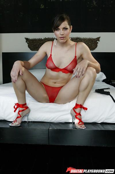 Bobbi Starr in high heels and underware spreading her hawt legs