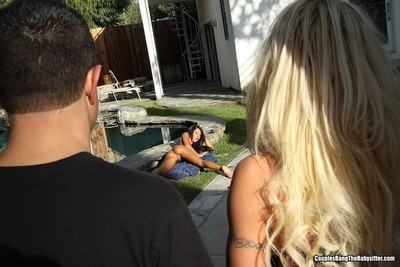 Lexi diamond and charity mclain in ffm smokin