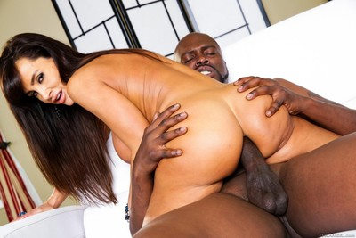 Rounded milf lisa ann is engulfing big brown stick and glorious it into tight butt ho