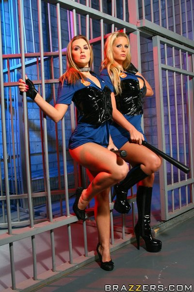 MILFs Phoenix Marie and Brianna Love have fun female-on-female games in uniform